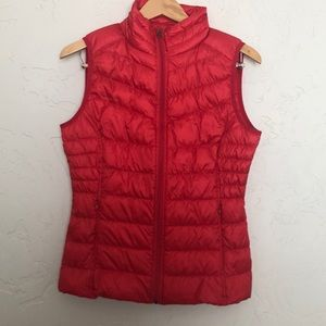 BE by Blanc Noir Red Down Vest sz. XS